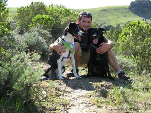 Bryan & Pups at Las Trampas
