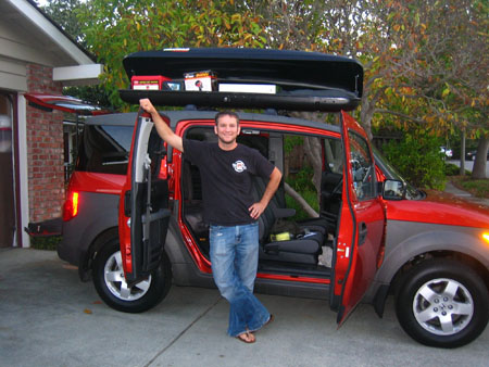 Honda Element with Yakima RocketBox