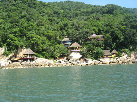 Beach Huts at Yelapa, Mexico