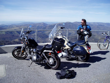Motorcycle view from Mt. Hamilton Observatory