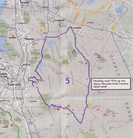 Mad Maps scan of Mt. Hamilton ride