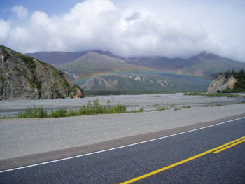 A chance viewing of a Rainbow along the Richardson Highway