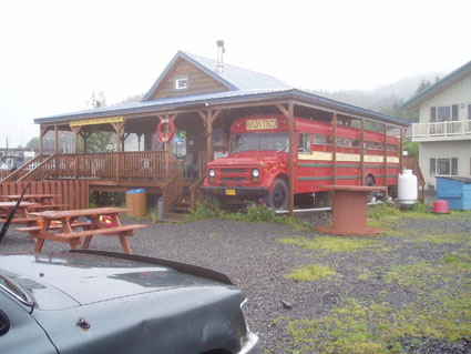 Baja Taco in Cordova, AK school bus