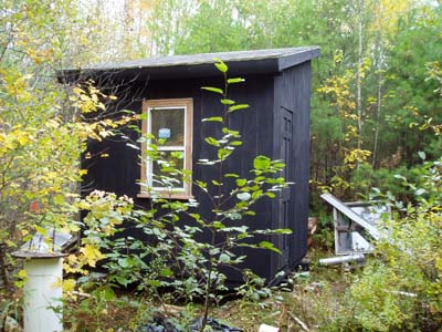 A black shed