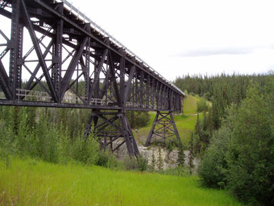 Kuskulana bridge along McCarthy Road