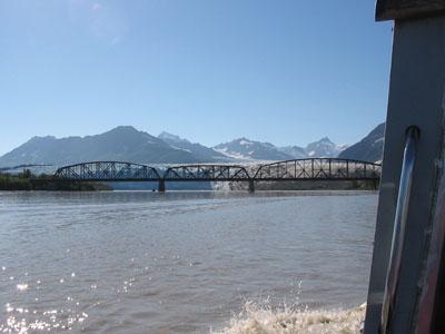 Million Dollar Bridge with Childs Glacier in Background